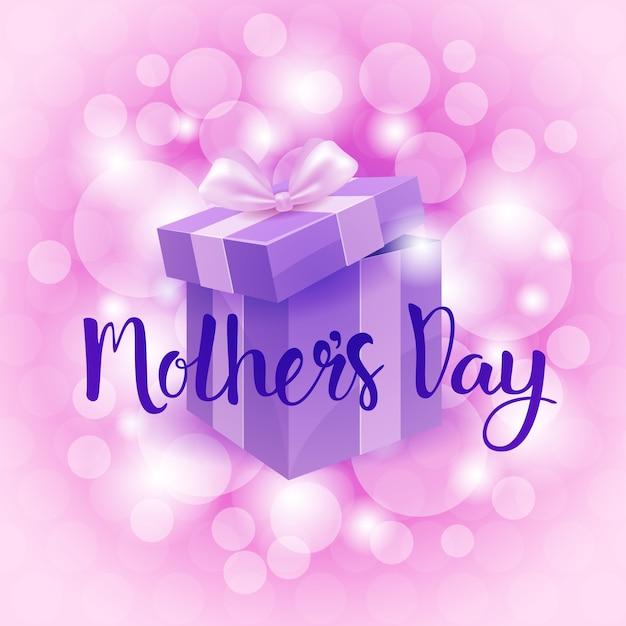Feliz dia das mães, banner de cartão de férias de primavera Vetor Premium