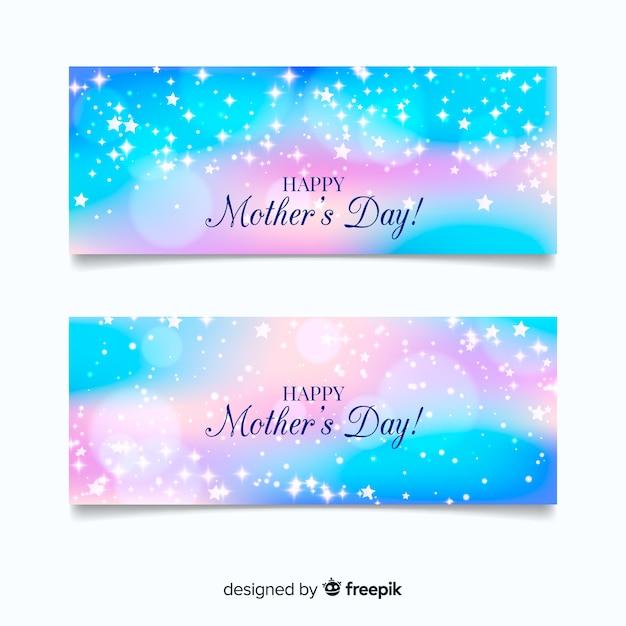 Feliz dia das mães banner Vetor grátis