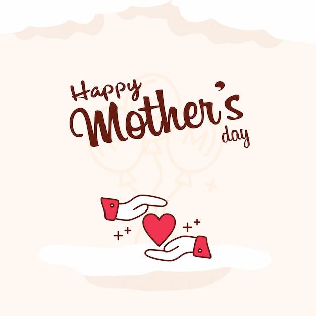 Feliz dia das mães celebração fundo Vetor grátis