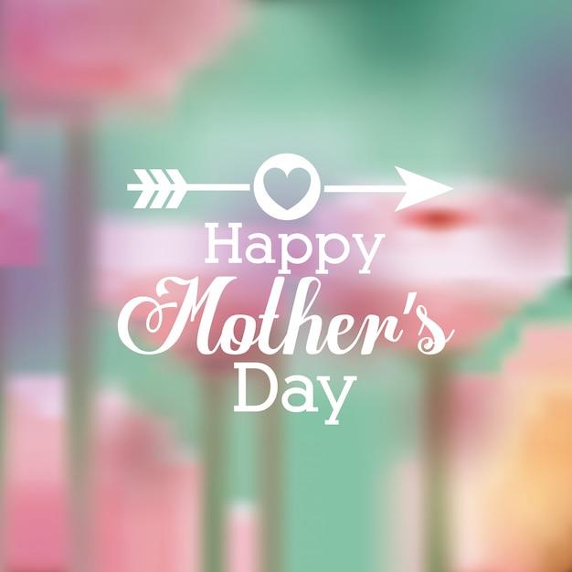 Feliz dia das mães design Vetor Premium
