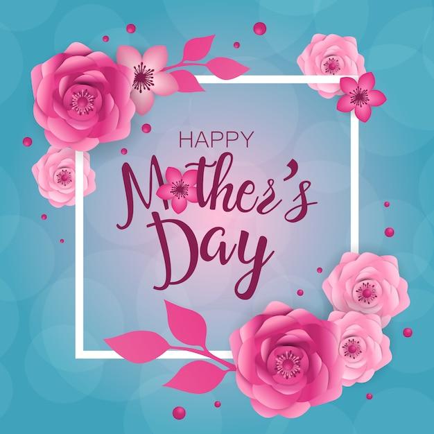 Feliz dia das mães ilustração Vetor Premium