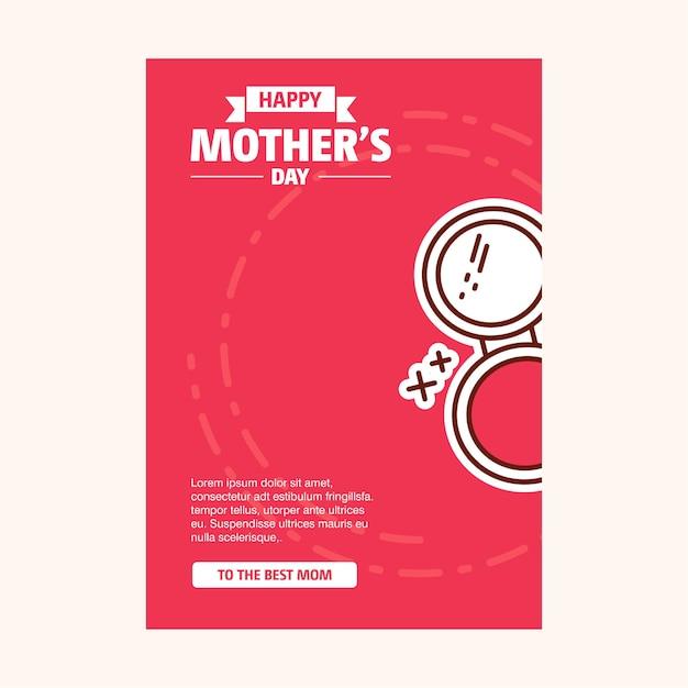 Feliz dia das mães venda banner Vetor grátis