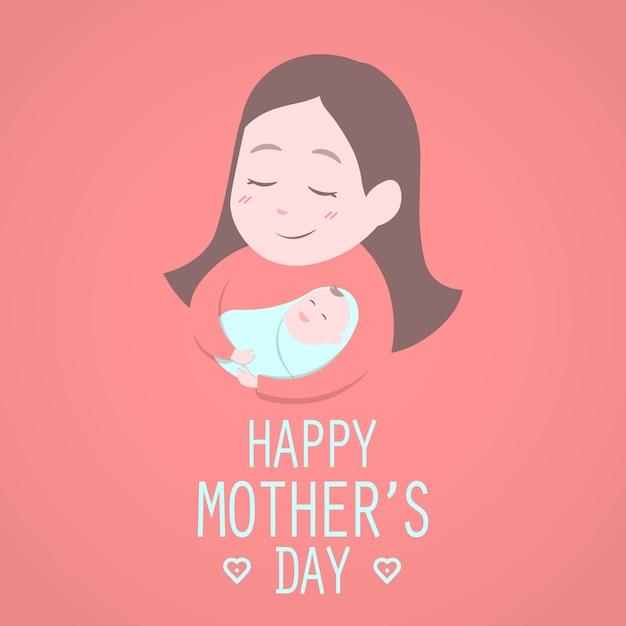 Feliz dia das mães. Vetor Premium