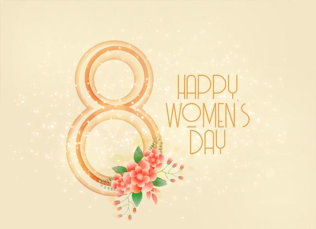 Feliz dia das mulheres 8 de março de fundo Vetor grátis