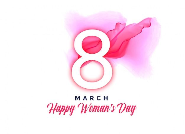 Feliz dia das mulheres em aquarela de fundo Vetor grátis