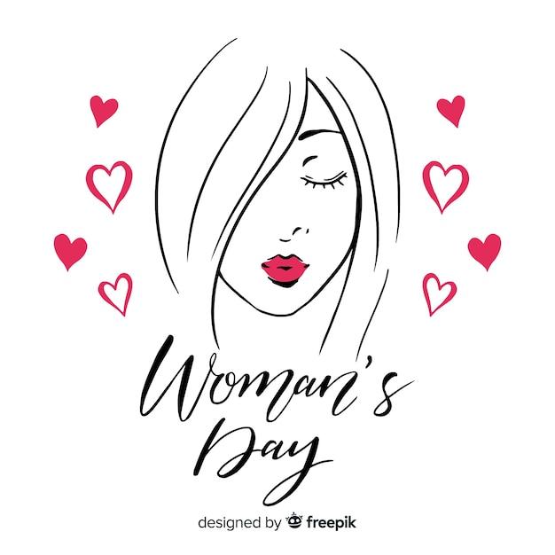 Feliz dia das mulheres Vetor grátis