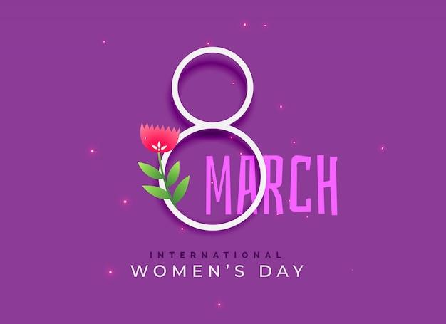 Feliz dia do dia das mulheres internacionais Vetor grátis