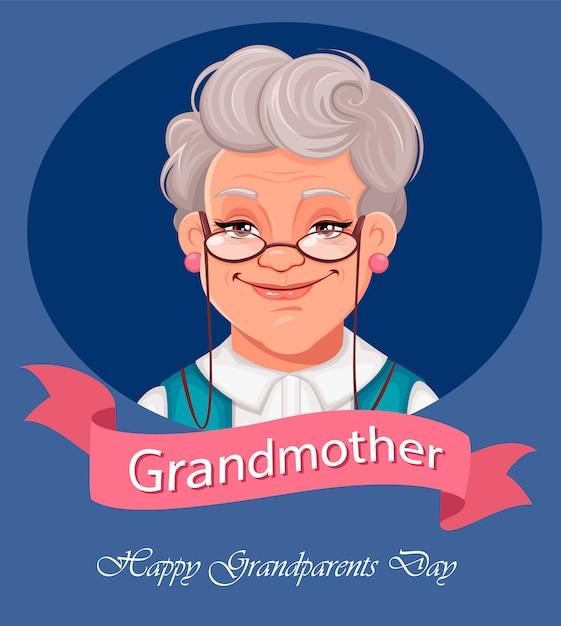 Feliz dia dos avós cartão. Vetor Premium
