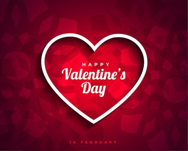 Feliz dia dos namorados cartão com corações atraentes Vetor grátis