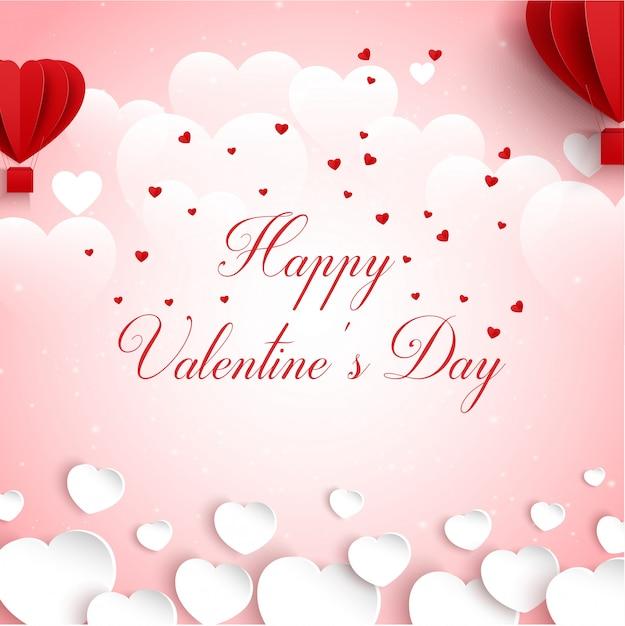 Feliz dia dos namorados cartão de cumprimentos Vetor Premium