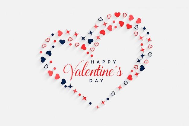 Feliz dia dos namorados coração decorativo fundo Vetor grátis