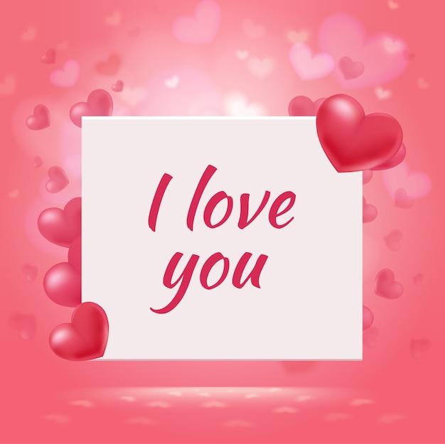 Feliz dia dos namorados fundo romântico Vetor grátis