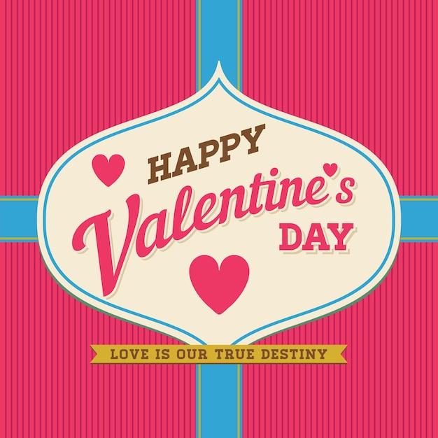 Feliz dia dos namorados letras à mão fundo tipográfico Vetor Premium