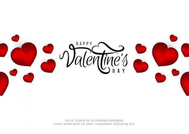 Feliz dia dos namorados romântico fundo Vetor grátis