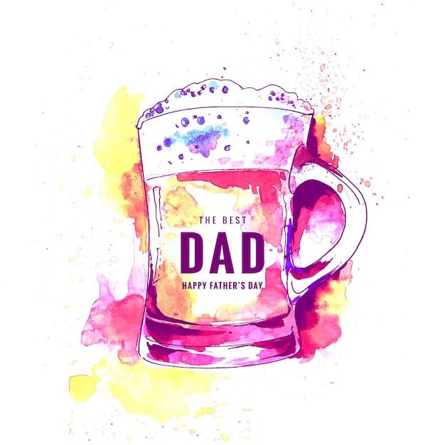 Feliz dia dos pais cartão de celebração Vetor grátis