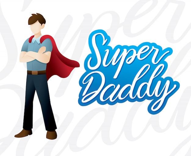 Feliz dia dos pais ilustração Vetor Premium