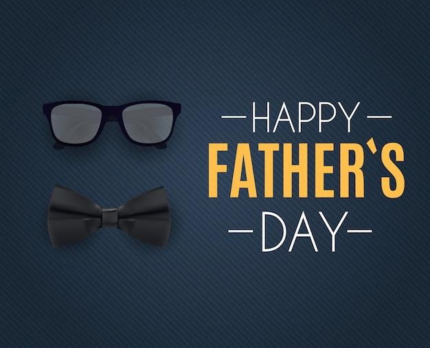 Feliz dia dos pais. melhor ilustração vetorial de pai Vetor Premium