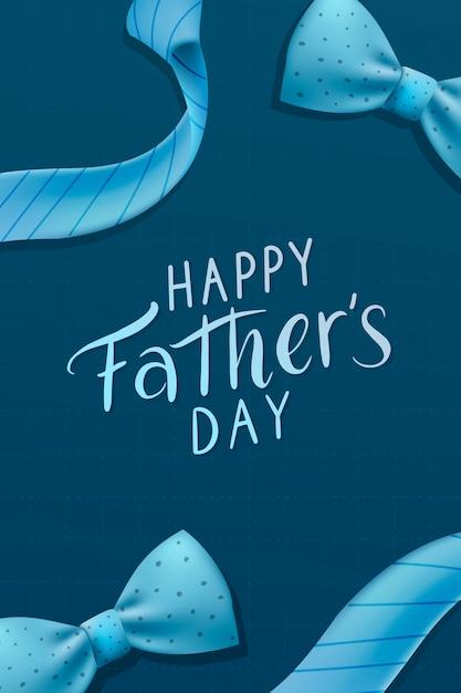 Feliz dia dos pais Vetor grátis