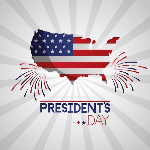 Feliz dia dos presidentes Vetor grátis