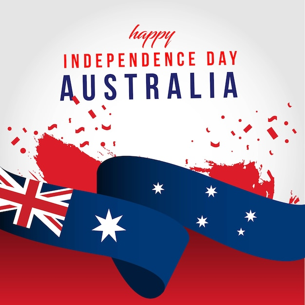 Feliz dia independente da austrália Vetor Premium