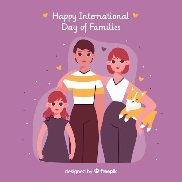 Feliz dia internacional das famílias Vetor grátis