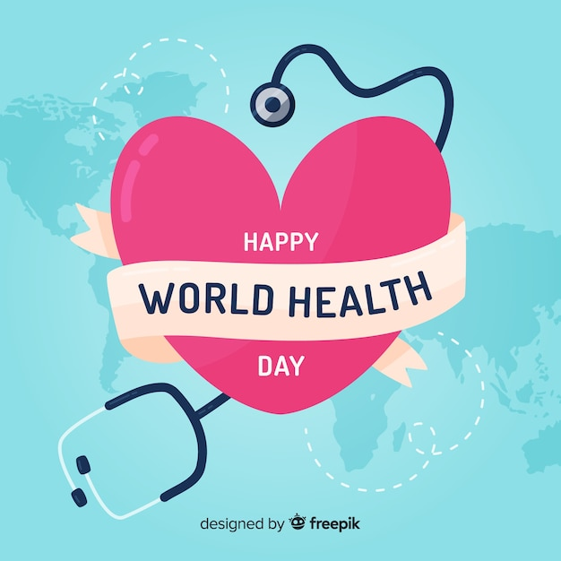 Feliz dia mundial da saúde Vetor grátis