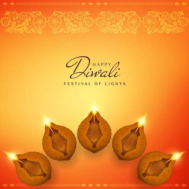 Feliz diwali abstrato bonito fundo decorativo Vetor grátis