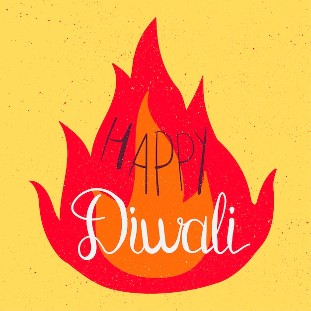 Feliz diwali celebração banner Vetor Premium