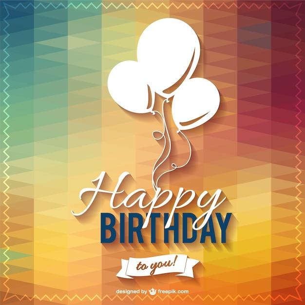Feliz do aniversário do partido lettering Vetor grátis