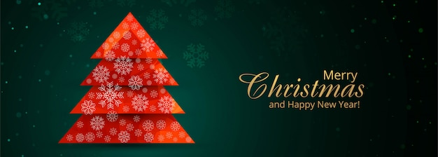 Feliz festa de natal e feliz ano novo banner festival fundo Vetor grátis