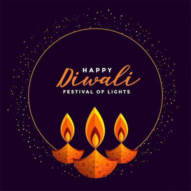 Feliz festival diwali fundo Vetor grátis
