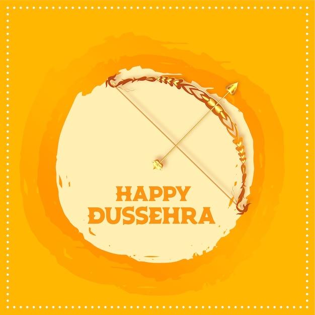 Feliz festival indiano dussehra deseja cartão Vetor grátis