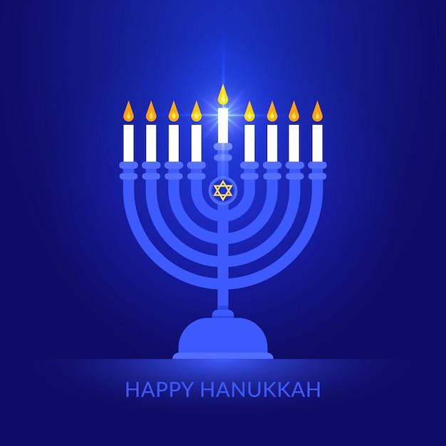 Feliz hanukkah background Vetor Premium