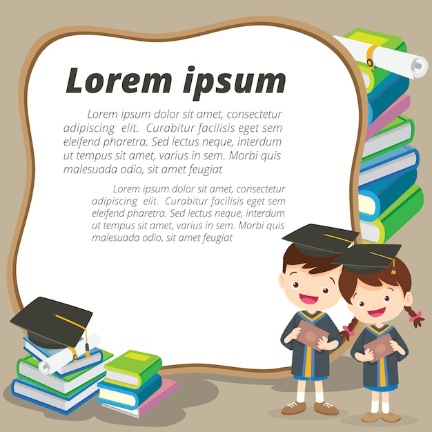Feliz jovem licenciado Vetor Premium