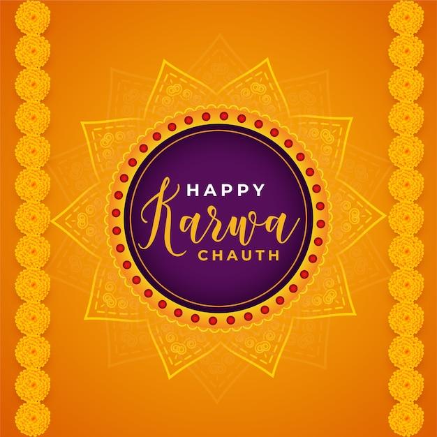 Feliz karwa chauth fundo abstrato decorativo do festival indiano Vetor grátis