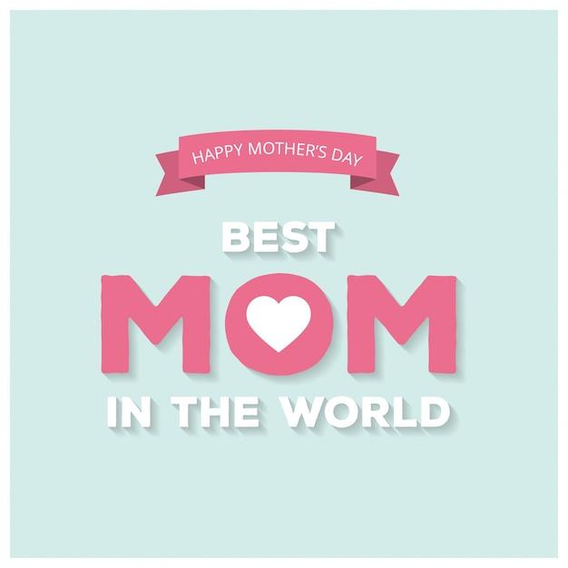 Feliz, mães, dia, lettering, handmade, caligrafia, vetorial ... Vetor grátis