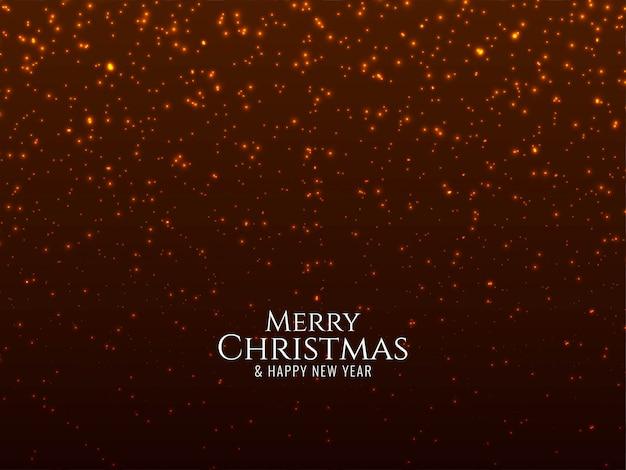 Feliz natal brilha fundo Vetor grátis