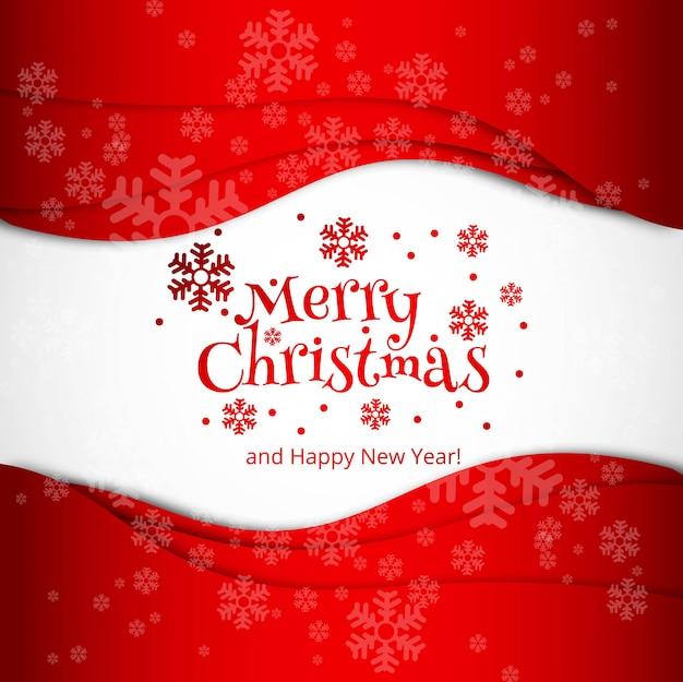 Feliz natal celebração cartão design vector Vetor grátis
