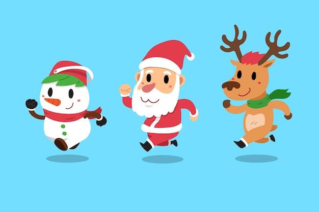 Feliz natal, companheiros, papai noel Vetor Premium