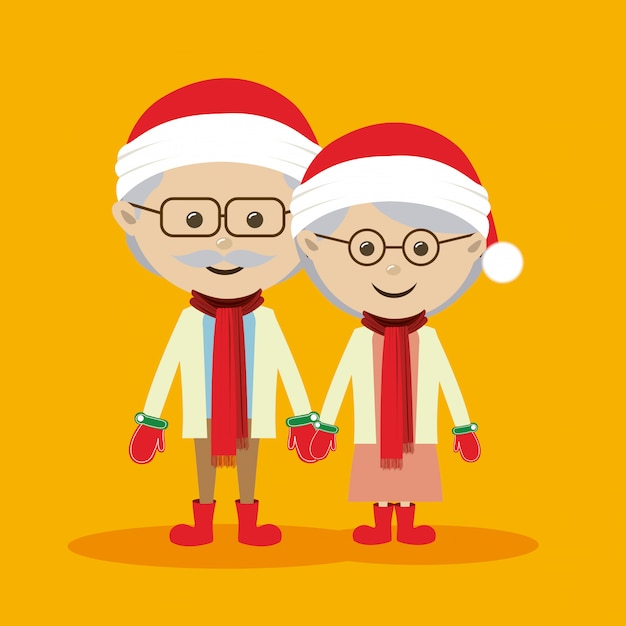 Feliz natal, desenho Vetor Premium