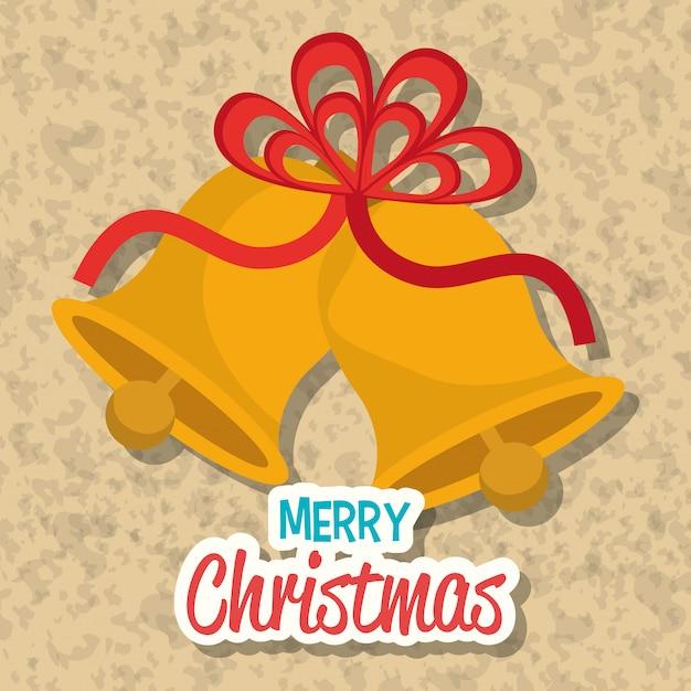 Feliz natal design de cartão colorido Vetor grátis