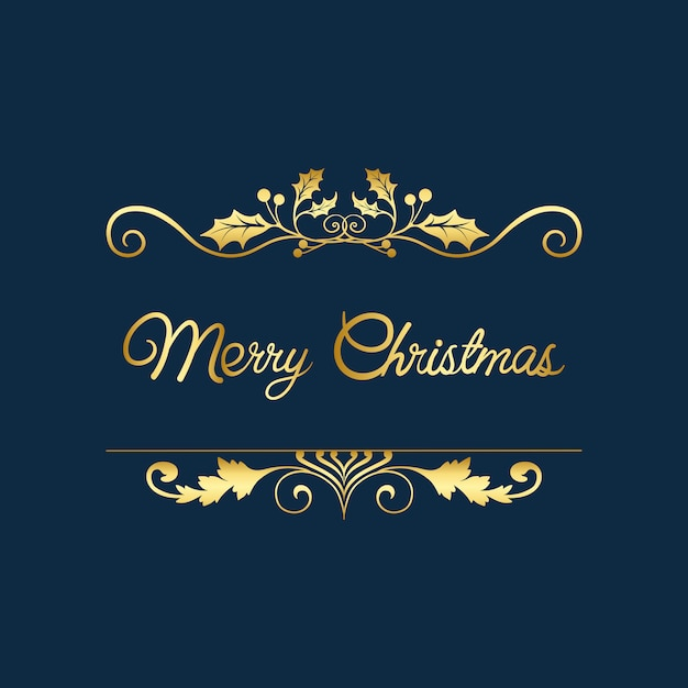 Feliz natal distintivo design vector Vetor grátis