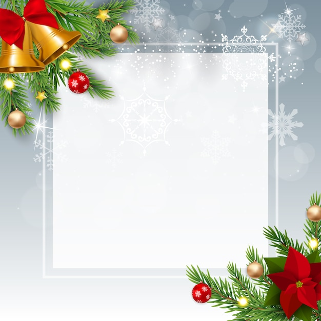 Feliz natal e ano novo. Vetor Premium