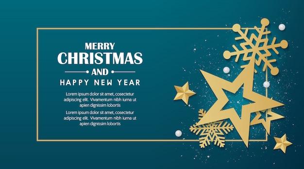 Feliz natal e feliz ano novo 2020 fundo Vetor Premium