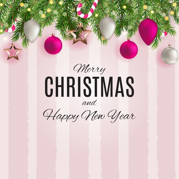Feliz natal e feliz ano novo cartazes. Vetor Premium