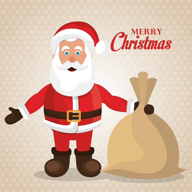 Feliz natal e feliz ano novo design de cartão Vetor grátis