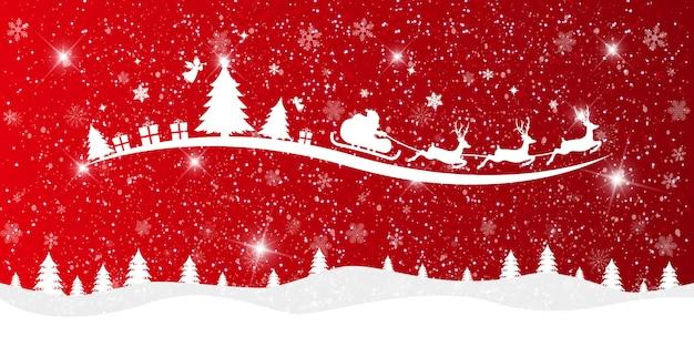 Feliz natal e feliz ano novo fundo. Vetor Premium