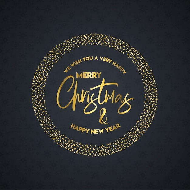 Feliz natal e feliz ano novo lettering Vetor grátis