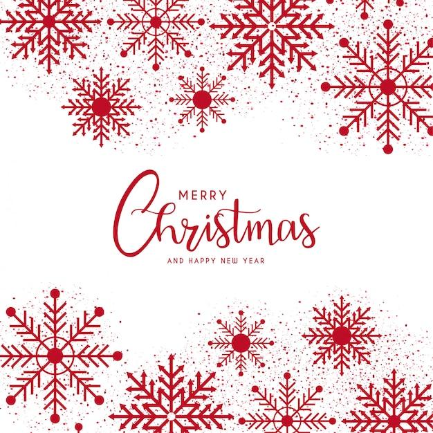 Feliz natal e feliz ano novo modelo de cartão Vetor grátis