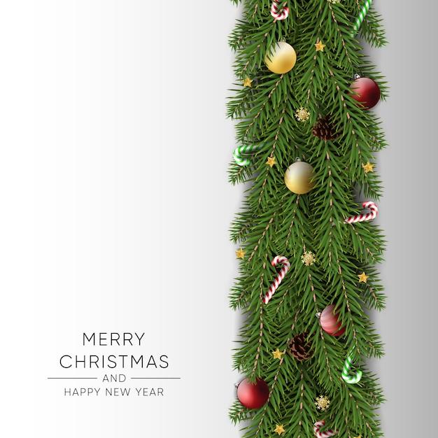 Feliz natal feliz ano novo fundo Vetor Premium